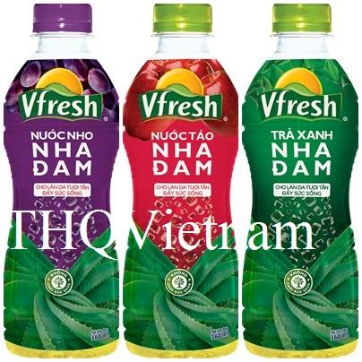 THQ VIETNAM] Vinamilk Vfresh Grapes Juice Aloe Vera 350ml