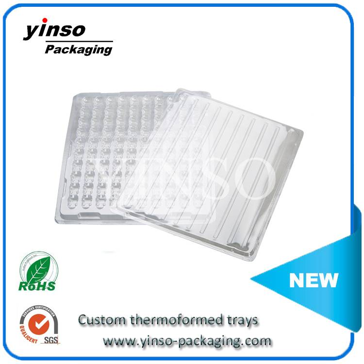 simple rectangle thermoforming trays,clamshell tray