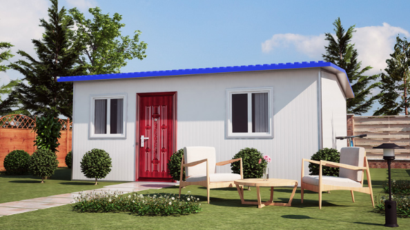 Low Price Fast Assembling Family Two Bedroom Prefab House
