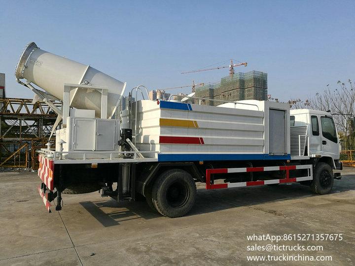 ISUZU dust control water truck 9000L fine water mist dust control truck