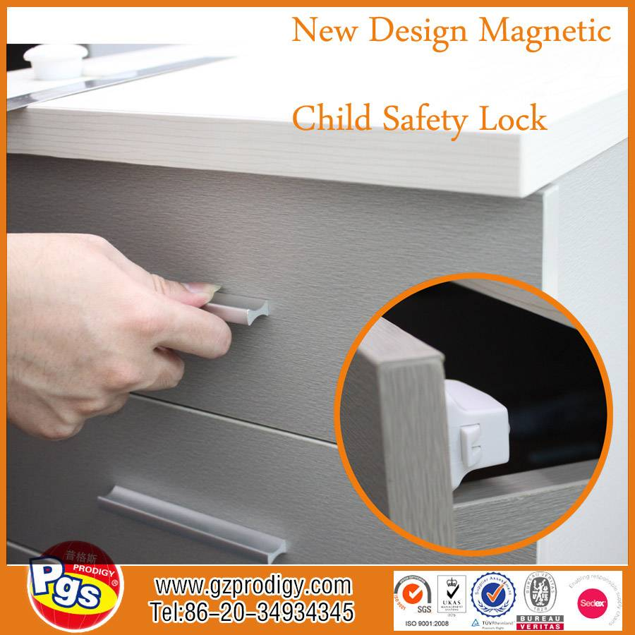8 Locks 2 Keys New Version Hidden Magnetic Baby Proof Safety Locks Set for Cabinets Drawers