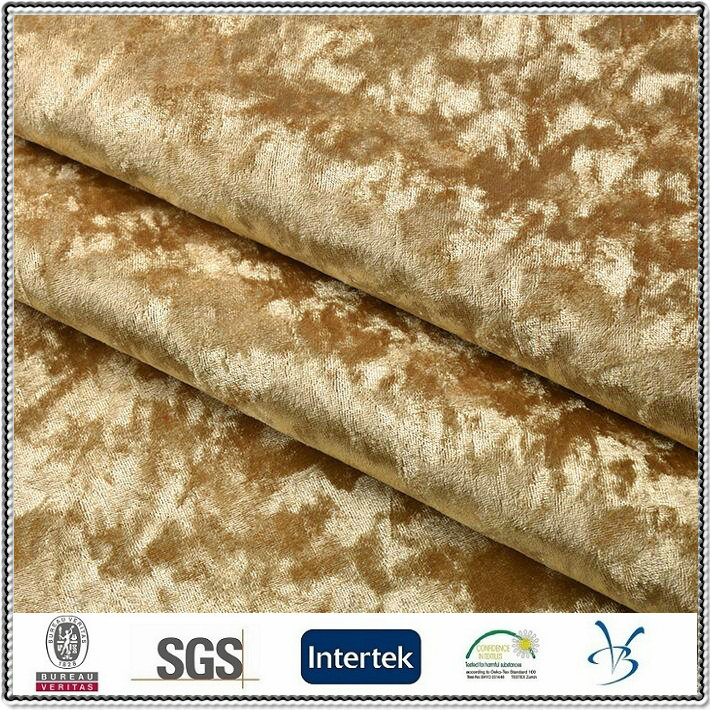 polyester ice crushed velvet diamond European style furniture upholstery fabric for sofa