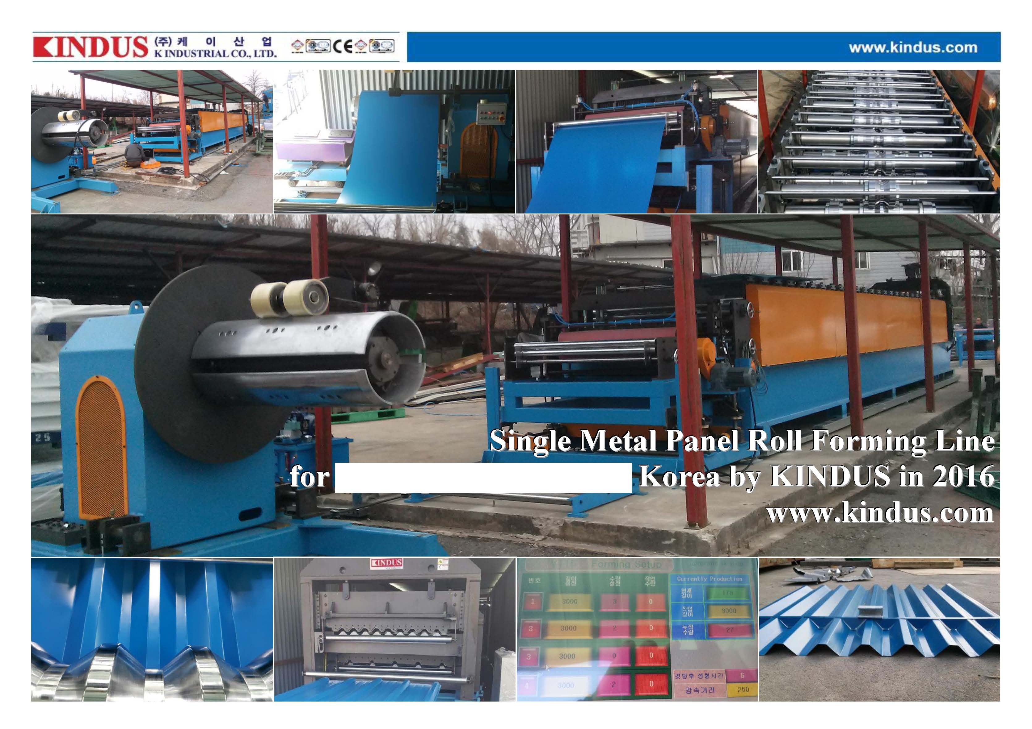 Single metal roll forming line