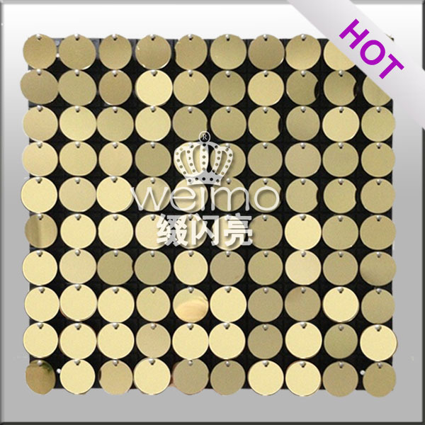 2017 Shiny Billboard Sequin Panel Wall for shop decoration