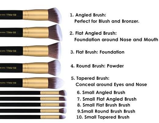10pcs Makeup Brush Set 2016 new Professional makeup Brushes hot sale cosmetic brush set