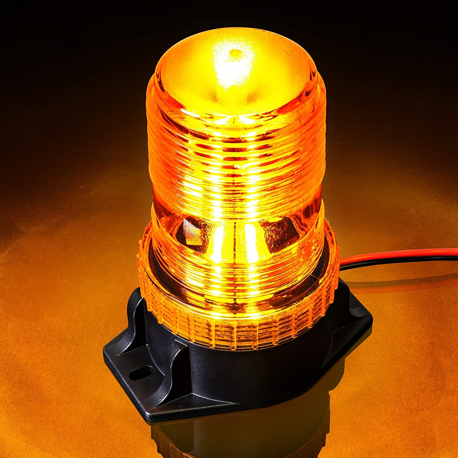 30 LED Amber/Yellow 15W Emergency Warning Flashing Safety Strobe Beacon Light for Forklift Truck Tra