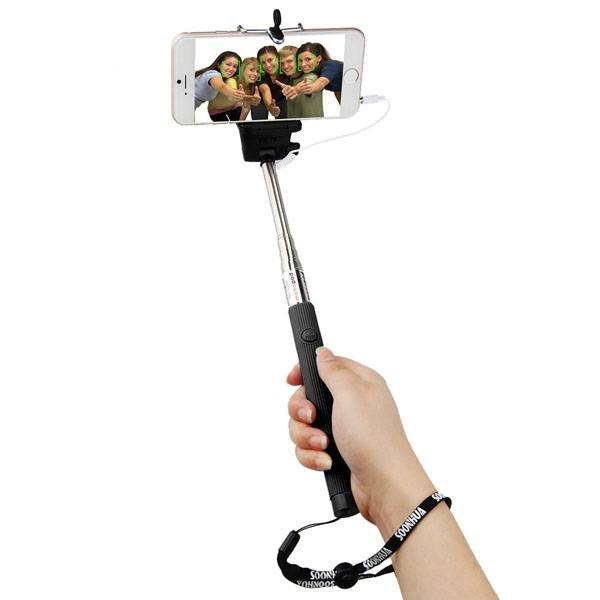 New Extendable Handheld Selfie Stick Monopod Wired Remote For Iphone Samsung LG G2 G3