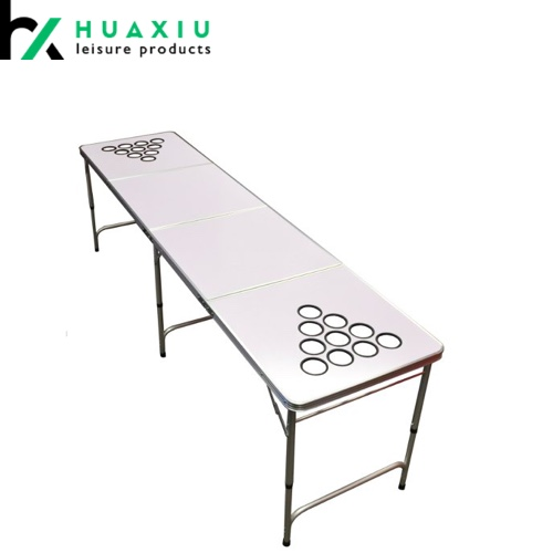Latest Design Custom Design Beer Pong Table with Holes