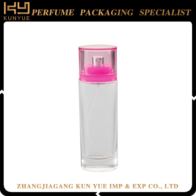 Square Perfume Spray Glass Bottle Refillable 100ml