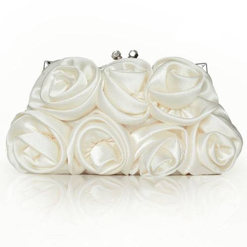 Silk With Flowers Evening Handbags/ Clutches More Colors Available