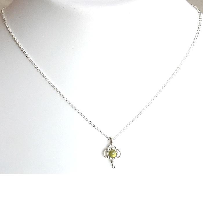 cz silver pendant set