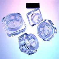 Cosmetic Packaging - Plastic Octagonal / Square Powder Jars