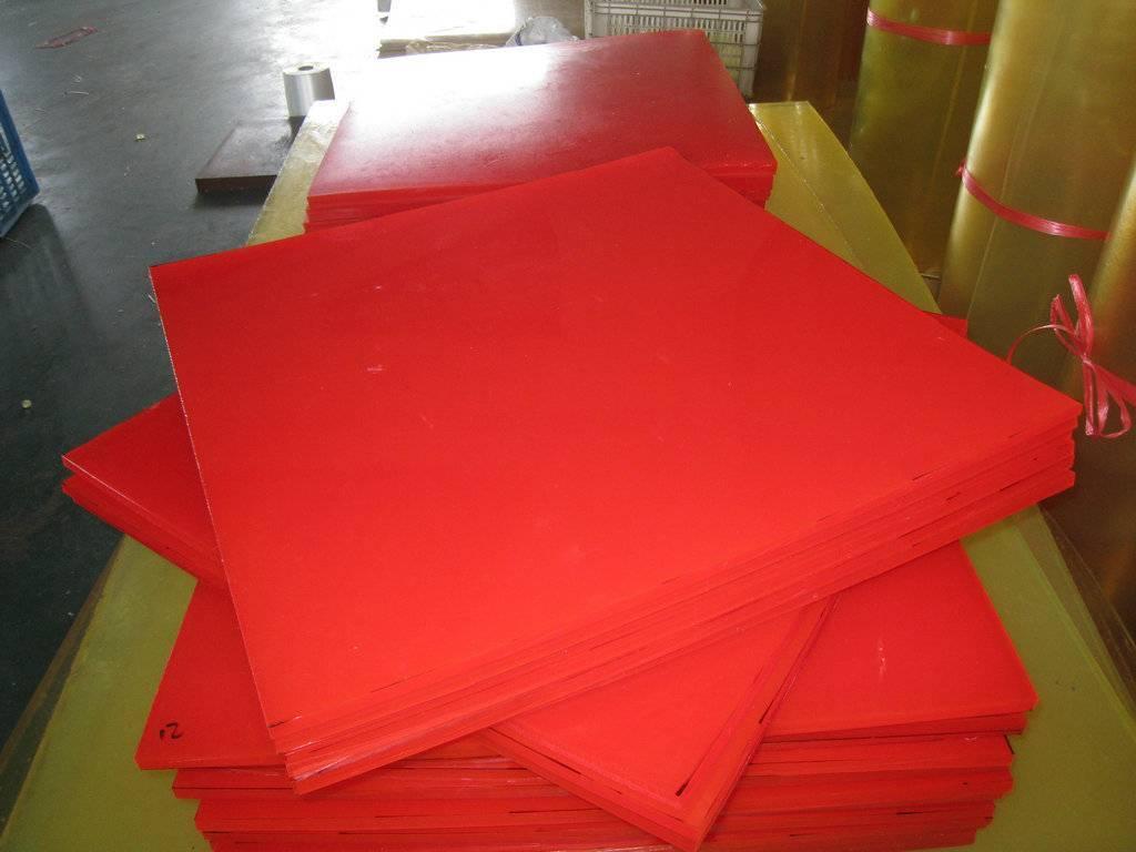 Red 100% virgin polyurethane sheet