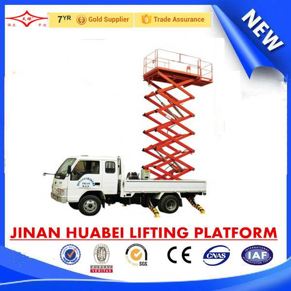 low cost vehicle mounted elevating platform