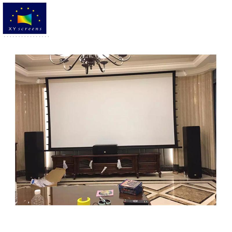 100 inch 16:9 excellent sound transparent 4k 3d laser projection screen for home