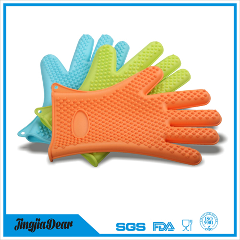 Silicone BBQ Oven Gloves, Heat Resistant Grill Gloves ,Silicone Oven Mitts For Grilling