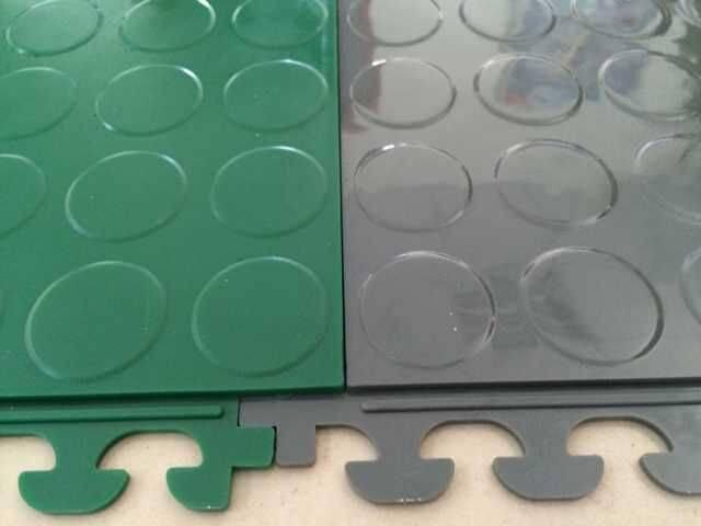 pvc double interlocking floor mat