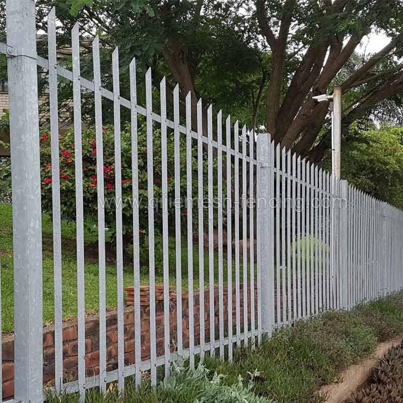 Galvanized Palisade Security Fence
