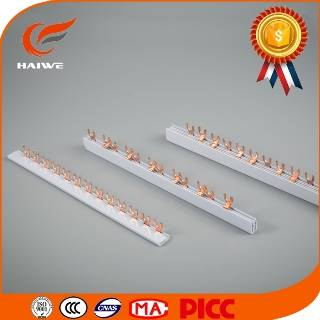 Fork U type 1p 2p 3p 4p 40A 63A 80A copper Mini circuit breaker MCB busbar