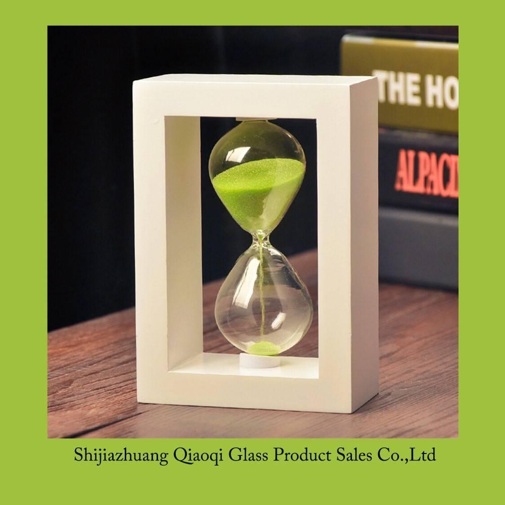 Wood sand timer, Wooden frame hourglass, 10 minutes sand timer