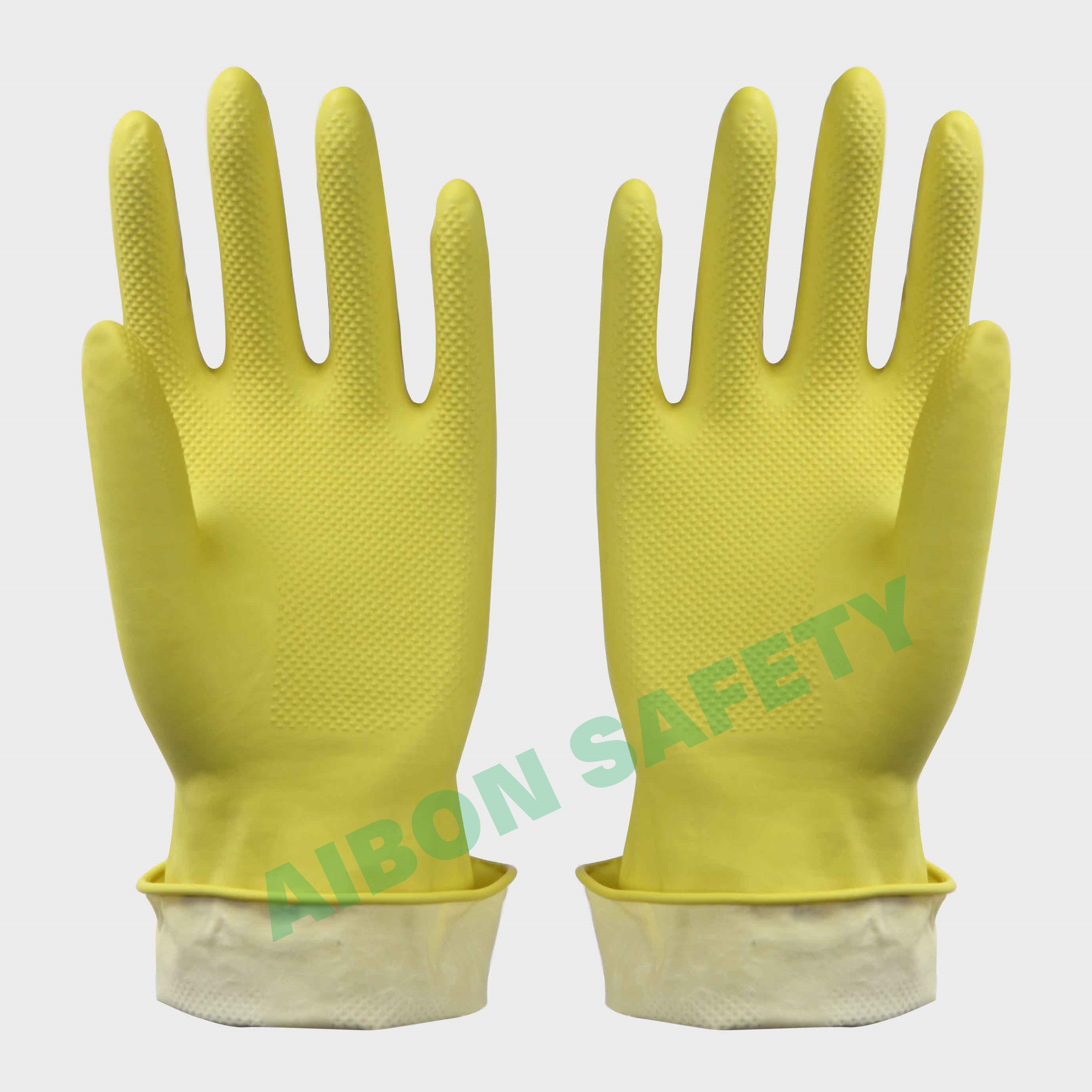 dip flocklined household rubber glove