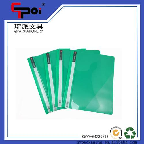 PP Stationery Supplier A4 Report Cover Loose Paper Customized Transparent File Folder
