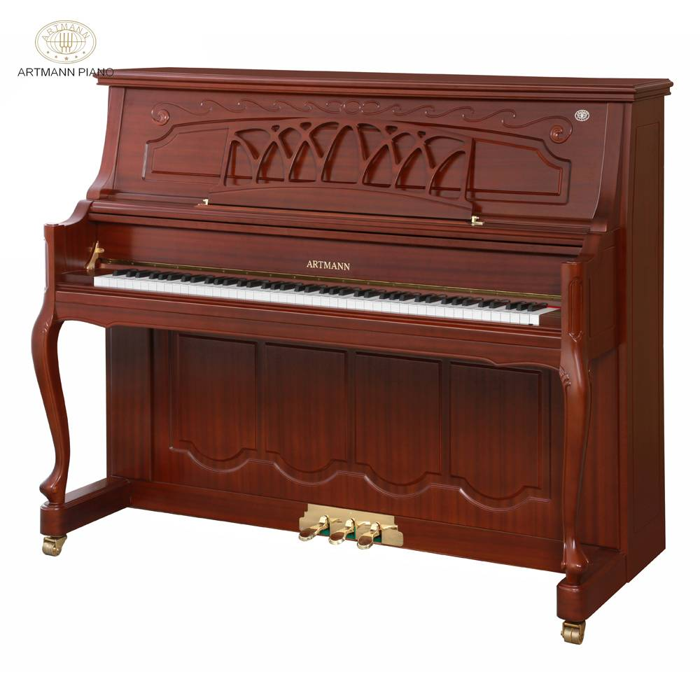 Shanghai Artmann mechanical red wood color 88 keys GD-125C3 archaic vertical upright piano