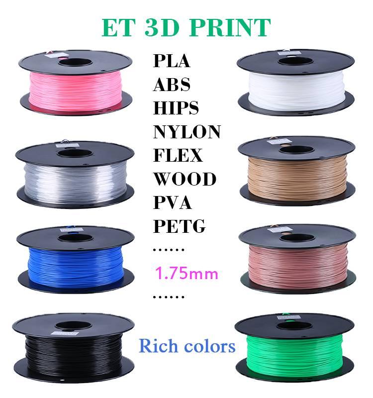 3D Printer Filament ABS PLA 1.75mm 3mm Printing Supplier Multi Colors