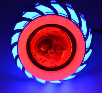 Round 10w work light bike driving led lamp winker lamp angel eye projector light led for motorcycle