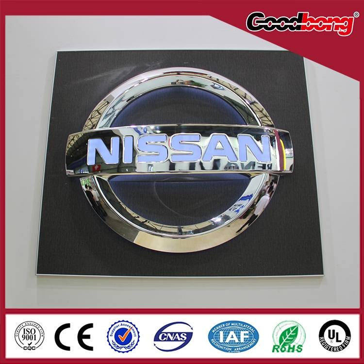Custom professional round shape 3D acrylic car brands logo names