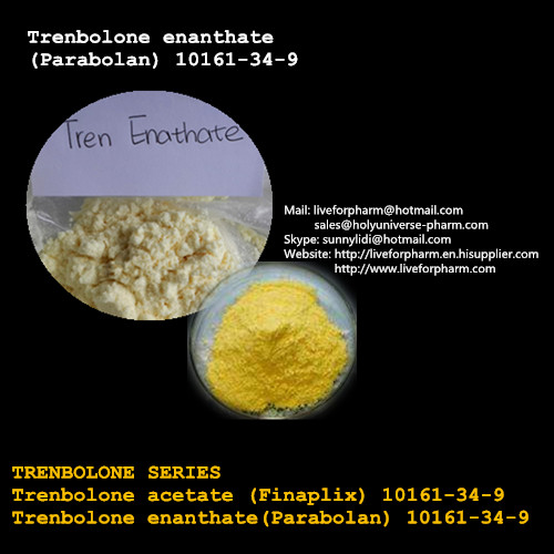 Muscle Growth Yellow Crystalline Powder Trenbolone Enanthate No Side Effect