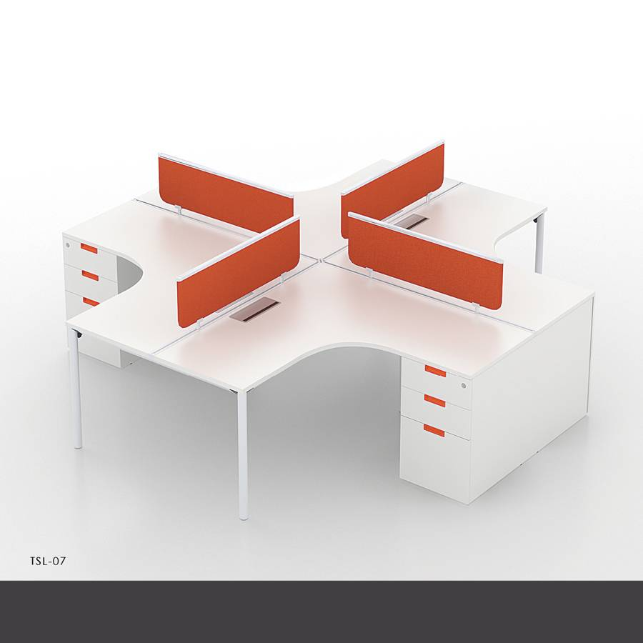 Best price New style office table of modern office workstations with modular parts
