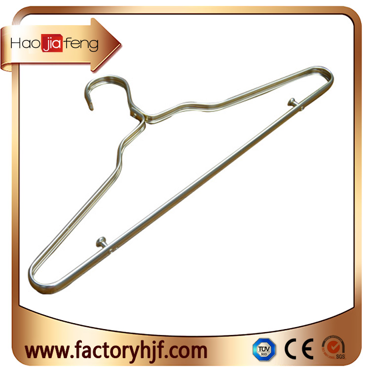 HJF-SC2 Chinese factory wholesale Environmental protection aluminum clothes hangers for garment