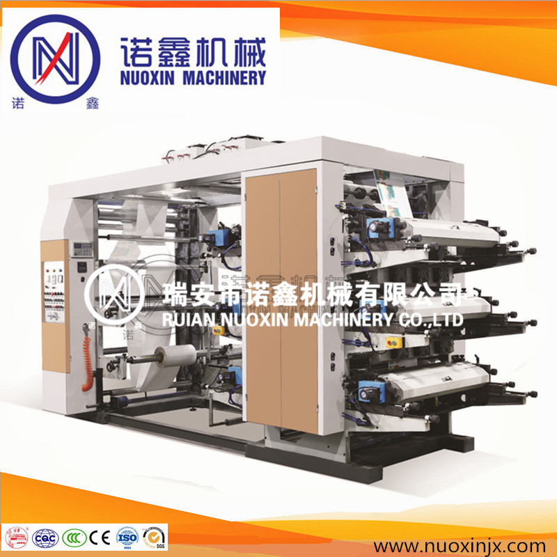 Stack type 6 color flexographic printing machine/flexo printing machine