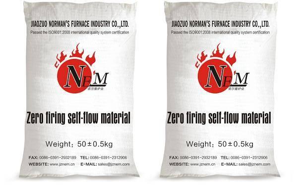 Zero firing self-flow material