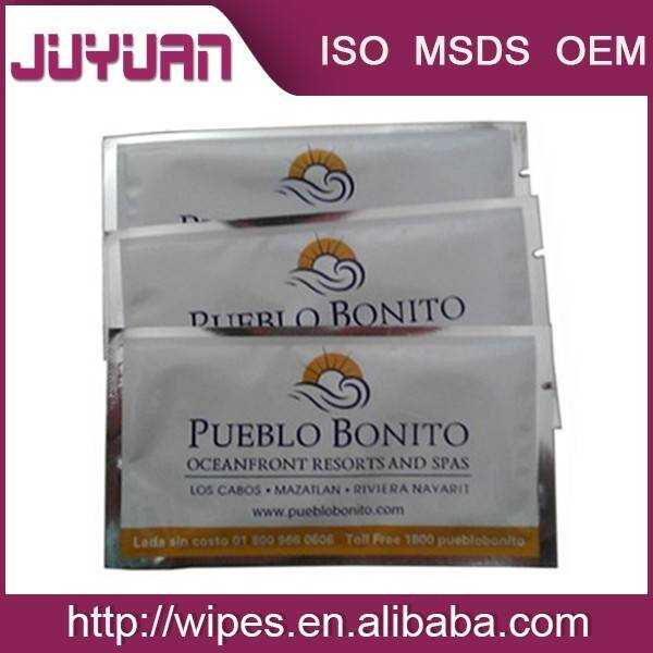High quanlity 100% Flushable,Biodegradable Airline Wet Wipes OEM Welcomed
