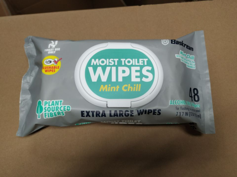 Toliet Wet Wipes Flushable Material Eco-friendly