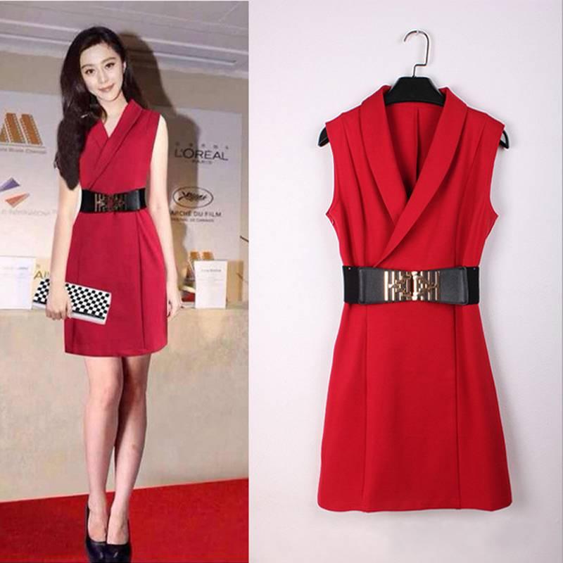 High Quality Women Dress Fan Bingbing Famous International Film Star Same Type Dress