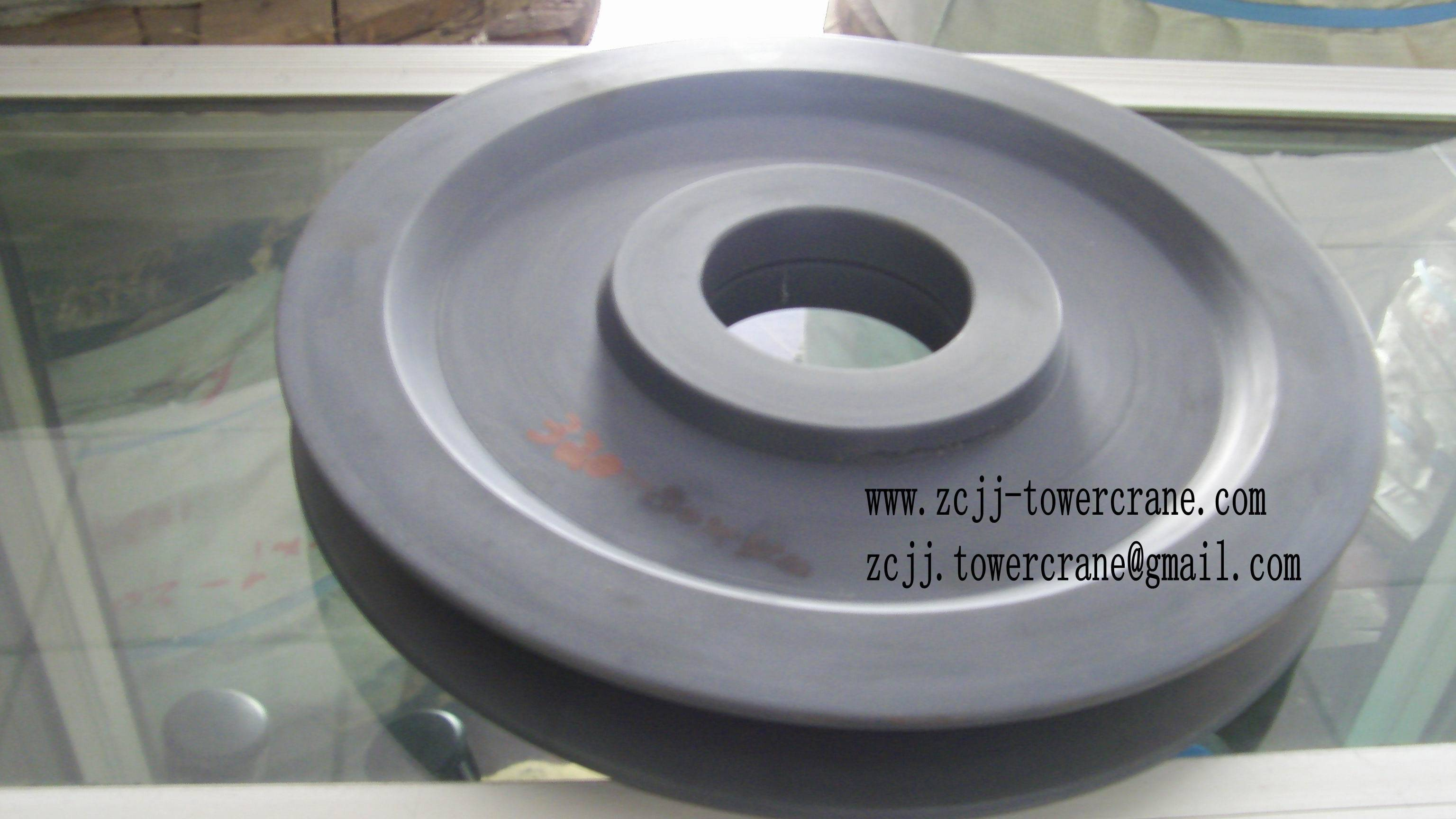 steel and nylon Pulley for tower crane