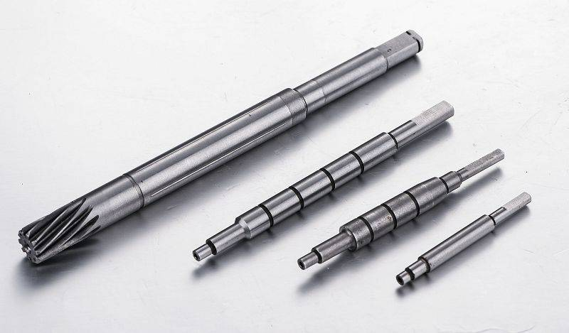 303 or 304 stainless steel shafts