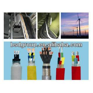 control cables with heat resistant silicon rubber insulation