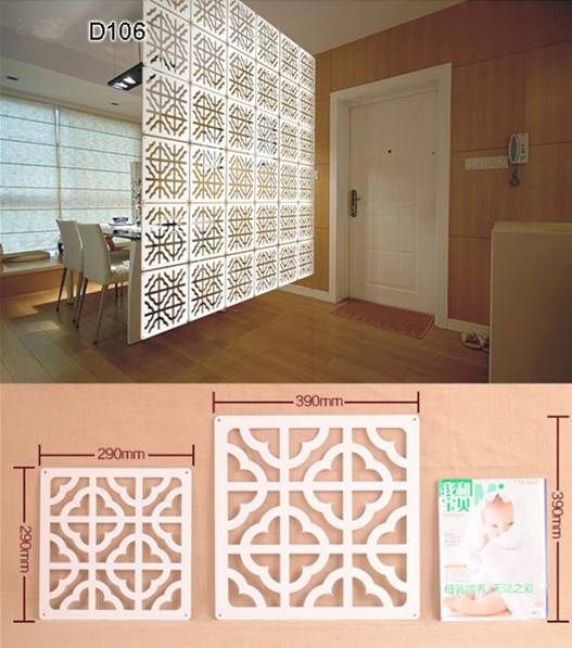 Customized Decorative WPC Screen Room Dividers Partition