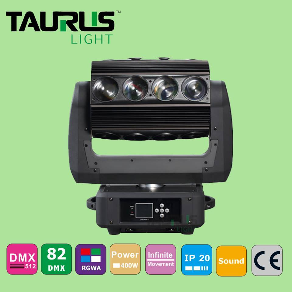 Beam Moving Head Light 16*25W RGBW 4 in 1 LED Rotate Colorful Moving Head Light