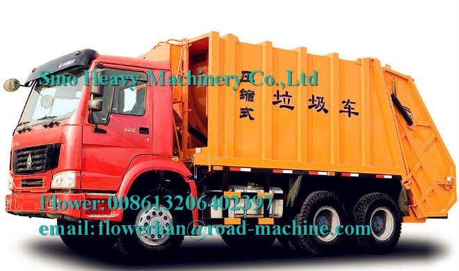 SINOTRUK HOWO 6x4 Compacted Garbage truck 12m3