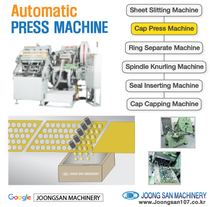 Aluminum bottle cap press machine