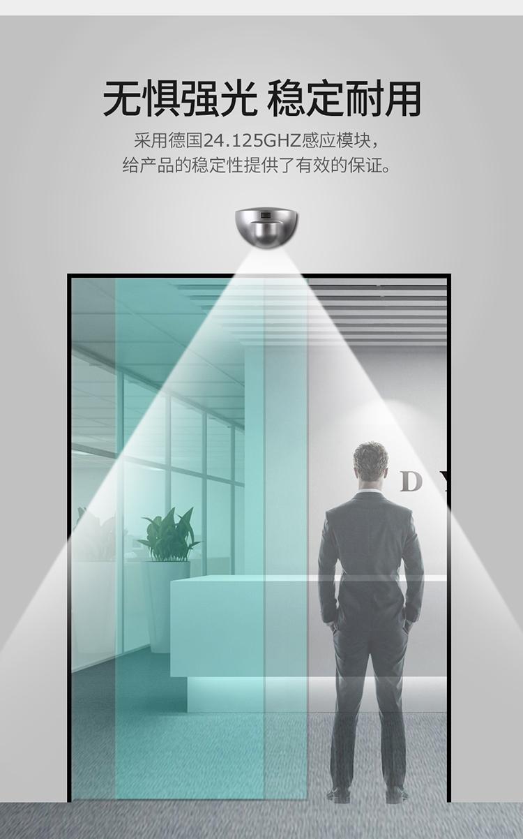 Microwave motion sensor automatic door sensor access detector safety sensor