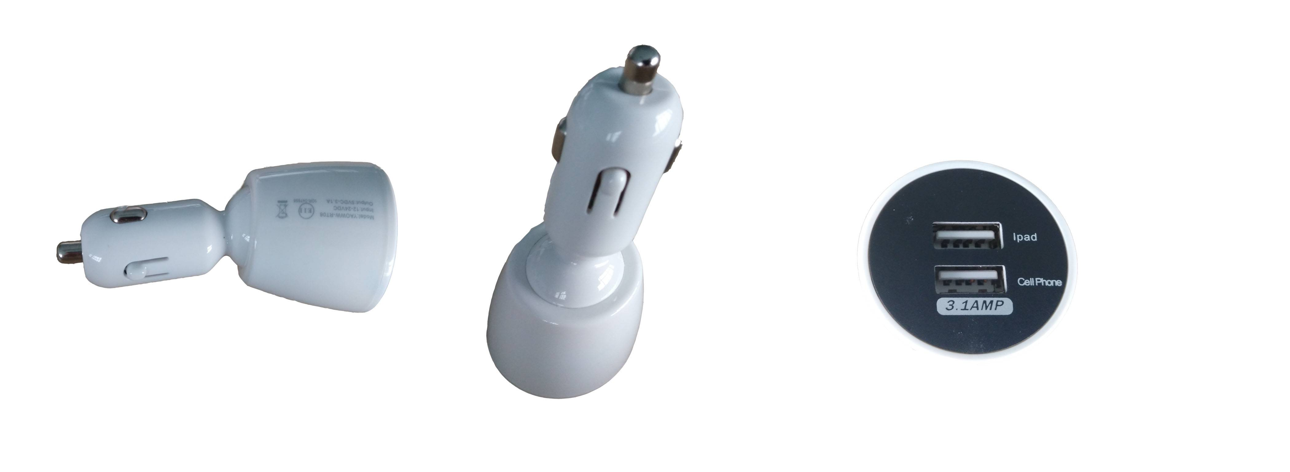 Exclusive patented appearance car charger, creative car adaptor with CE, FCC, PSE certificate