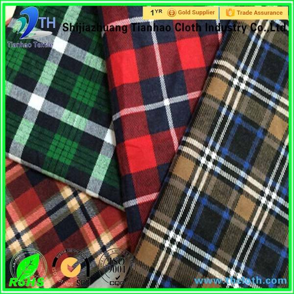 100 cotton yarn dyed fabric in check for shirt
