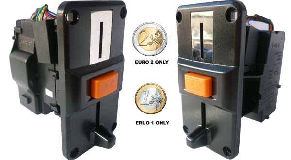 Euro only coin validator Acceptor slot selector