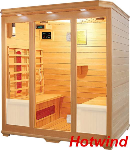 Luxury Infrared Sauna room Ceramic heater for 4 Person
